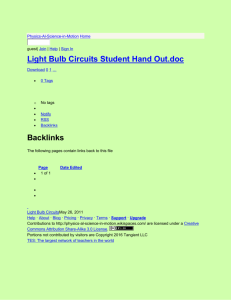 Physics-Al-Science-in-Motion - Light Bulb Circuits Student Hand Out