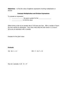 Evaluate Multiplication and Division Expressions