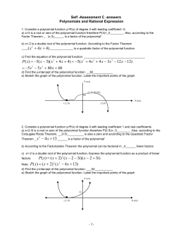 answers -Polynomials and rational functions