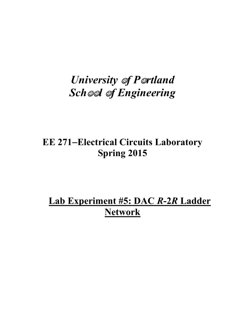 Spring2015 Experiment 5 Formal Lab Report Working Of 4 Bit R 2r Ladder D A Converter Circuit 1 Technical