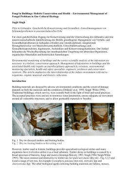 Fungi in Buildings: Holistic Conservation and Health