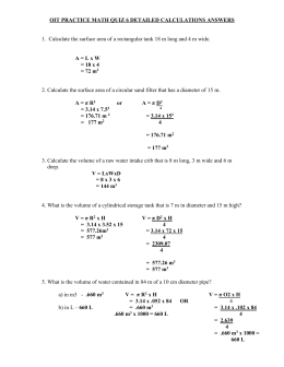 OIT PRACTICE MATH QUIZ 6 DETAILED CALCULATIONS ANSWERS