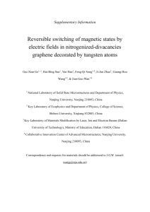 Supplementary Information Reversible switching of magnetic states