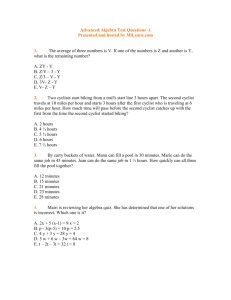 Advanced Algebra Test Questions