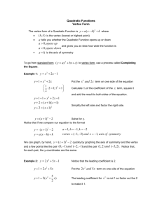 Math 112 Notes - De Anza College