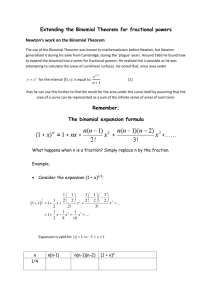 Extending the Binomial Theorem for fractional powers