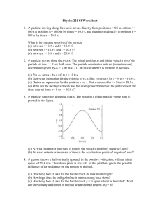 Physics 221 SI Worksheet