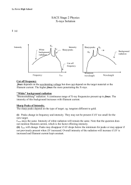 Worksheet - X-rays Solution