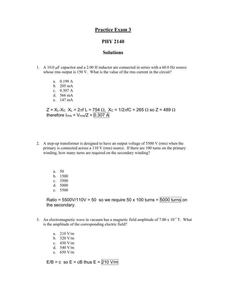 ma 265 homework assignment #7 solutions