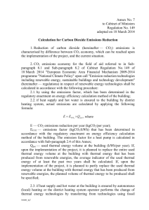 Annex 7 Calculation for Carbon Dioxide Emissions Reduction