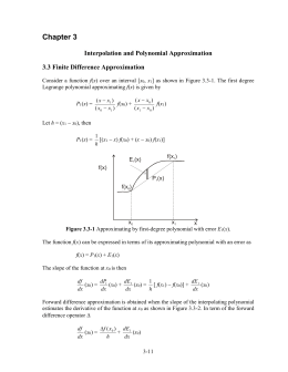 Interpolation and Polynomial Approximation