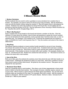 5 Minute Mental Math