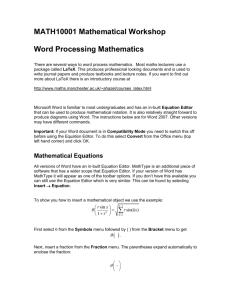 Word Processing Maths