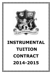 INSTRUMENTAL TUITION CONTRACT 2014