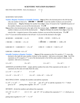 Scientific Notation Handout