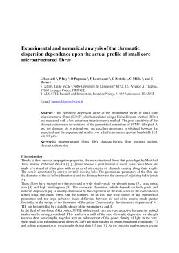 Experimental and numerical analysis of the chromatic