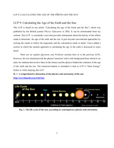 Calculating the Age of the Earth and the Sun