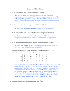 Homework # 9: Number Systems
