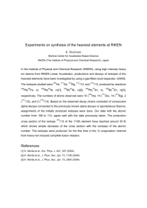 Experiments on synthesis of the heaviest elements at RIKEN