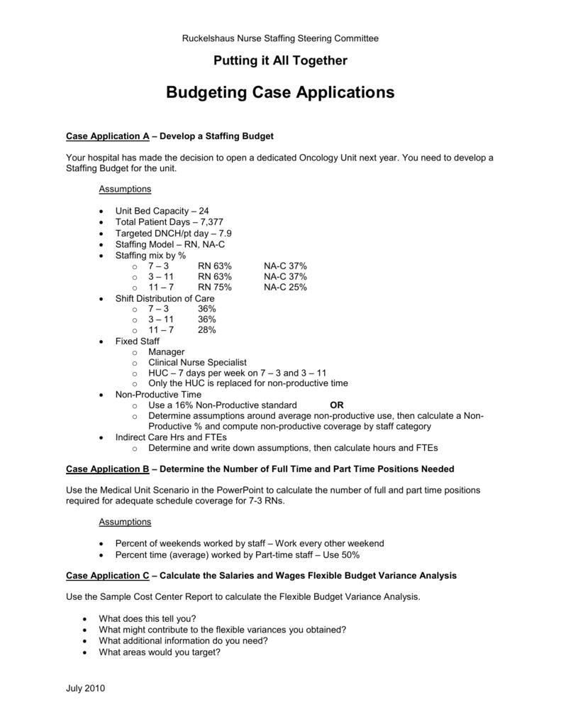 Case Application Scenarios