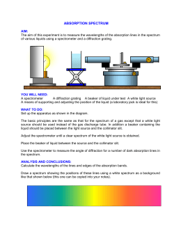 Absorption spectrum