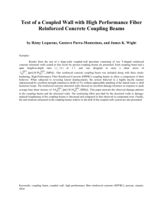 Detailing and Behavior of Coupling Beams With High