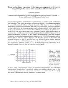 Linear and nonlinear expressions for the harmonic components of