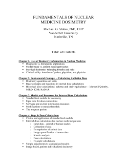 Table of Contents - RADAR - the RAdiation Dose Assessment