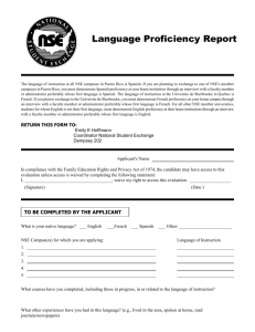 Language Proficiency Report