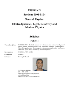 Syllabus - Department of Physics