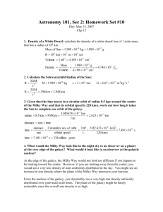 HW #10 - Department of Physics and Astronomy