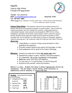Health Syllabus - Issaquah Connect