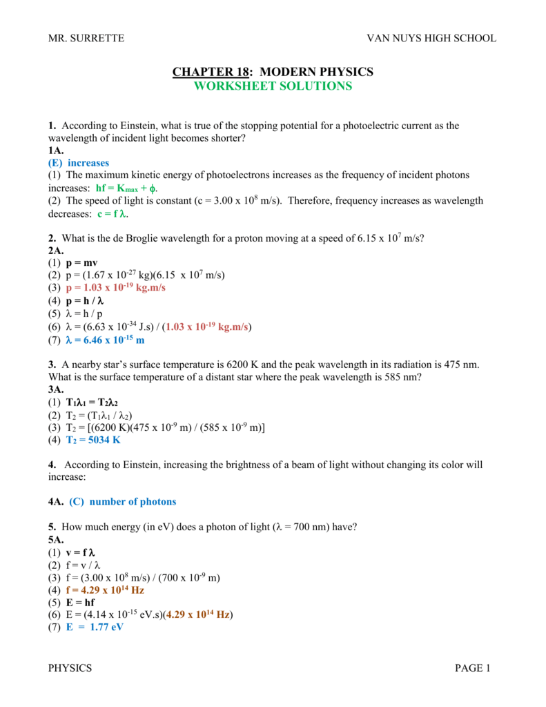 Color at Light Speed Worksheet for 9th - 12th Grade   Lesson Planet