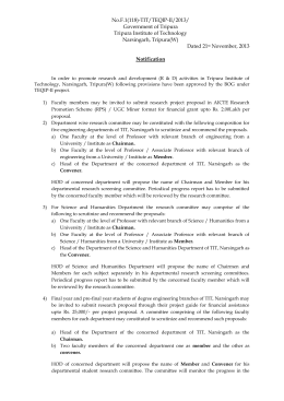 No.F.1(118)-TIT/TEQIP-II/2013/ Government of Tripura Tripura