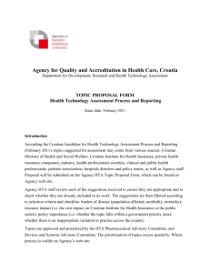Agency for Quality and Accreditation in Health Care, Croatia