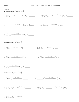 NAME NUCLEAR DECAY EQUATIONS