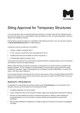 Siting Approval for Temporary Structures - Fact