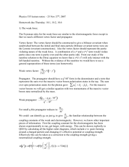 Physics 535 lecture notes: - 23 Nov 27th, 2007 Homework due