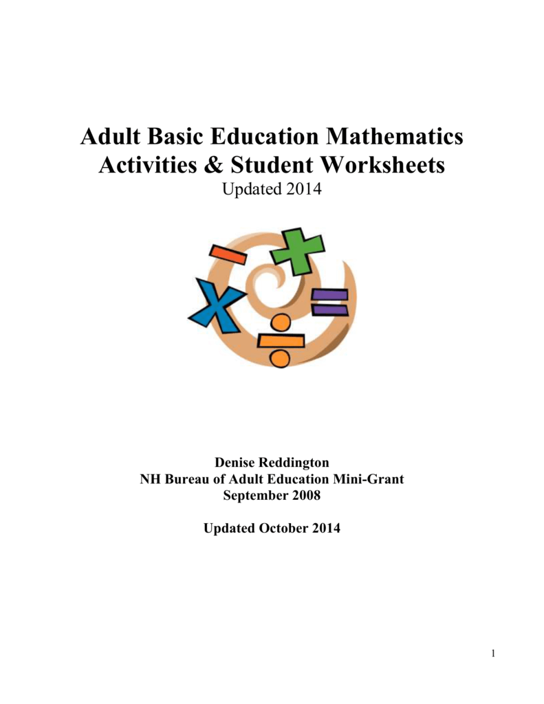 ABE/GED Mathematics Activities & Student Worksheets