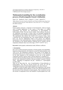 Mathematical Modeling for the Crystalization Process of