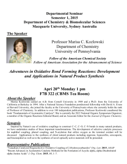 The Speaker - Department of Chemistry and Biomolecular Sciences