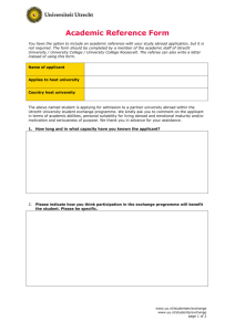 Academic Reference Form – page 1