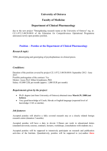 Position #1 - Postdoc at the Department of Theoretical Research