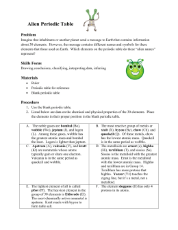 Worksheets Alien Periodic Table Worksheet 3 skills lab alien periodic table problem imagine that inhabitants or another