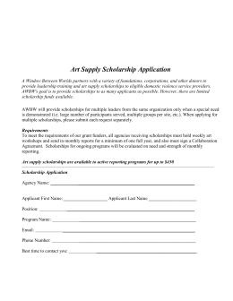 Art Supply Scholarship Application