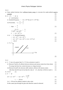 Atomic Physics Pastpaper Solution
