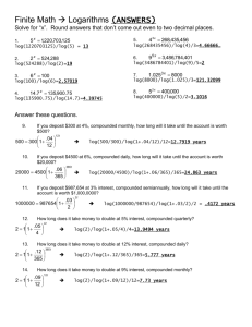 Finite Math Logarithms