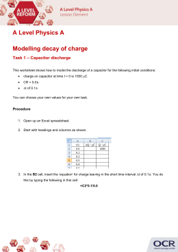 Modelling decay of charge