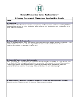 primary document classroom application guide