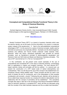Conceptual and Computational Density Functional Theory in the